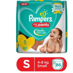 Pampers Baby-Dry Pants Diaper - S  (86 Pieces)