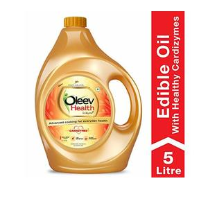 Oleev Health, Cooking Oil for Healthy Lifestyle, Edible Oil, Jar 5L