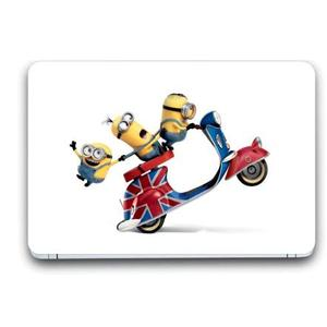 Gallery 83 ® scooter drive minions Exclusive High Quality Laptop Decal, laptop skin sticker 15.6 inch (15 x 10) Inch G83_skin_3268new Vinyl Laptop Decal 15.6
