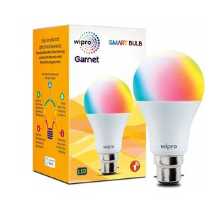 Wipro WiFi Enabled Smart LED Bulb B22 9-Watt (16 Million Colors + Warm White/Neutral White/White) (Compatible with Amazon Alexa and Google Assistant)
