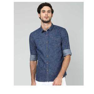 Flying Machine  Men Printed Casual Spread Shirt