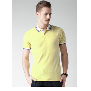 INVICTUS Men Yellow Solid Polo T-shirt