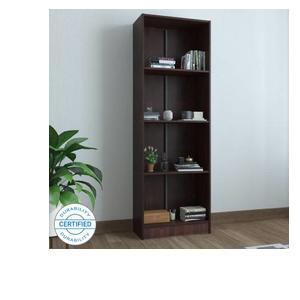 Woodness Venice Engineered Wood Open Book Shelf  (Finish Color - Brown)
