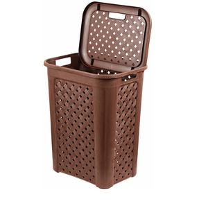 Cello Classic Plastic Laundry Basket, 30 Litres, Brown