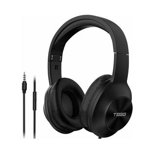 TAGG SoundGear 700 Over Ear Wired Headphones | Built-in Mic | Deep Bass | Stereo Sound | Black