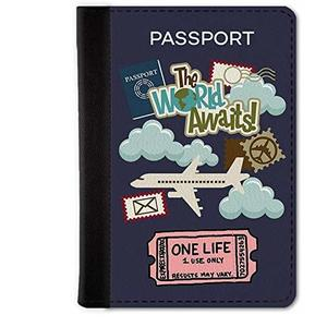 Qrioh Passport Holder Travel Wallet for Men/Women - One Life