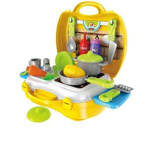 Khushi Dream Kitchen Set with Suitcase 26 Pcs for Kids 3+ ( Multi Color)