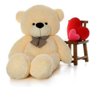 KidsBerry 3 feet cream teddy bear / Big very soft and sweet / anniversary for pleasant Gift - 89cm cream - 89 cm  (Cream)