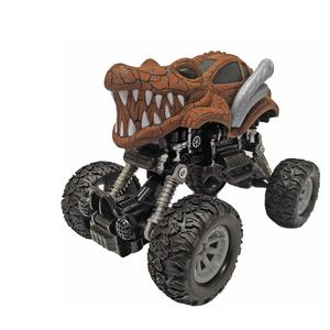 Popsugar Pull Back Dinosaur Monster Truck with Big Rubber Wheels for Kids