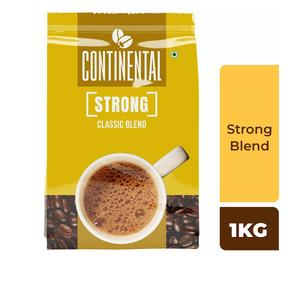 Continental Strong Coffee Powder 1Kg Bag ( 5 Pouches of 200g )