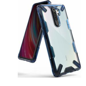 Ringke Fusion-X Designed for Redmi Note 8 Pro Case Back Cover, [Military Drop Tested] Transparent PC Back TPU Bumper Impact Resistant Protection for Xiaomi Redmi Note 8 Pro Back Cover - Space Blue