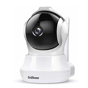 Srihome SH020 Pan/Tilt Wireless WiFi 3MP Ultra HD 1296p IP Security Camera CCTV with Auto Tracking
