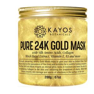 Kayos 24k Gold Mask With Collagen, Silk Amino Acids, Vitamin E, 200 G