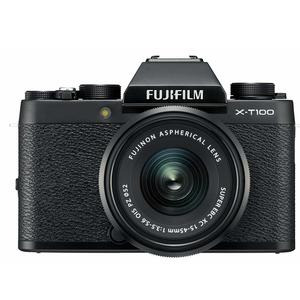 Fujifilm X Series X-T100 24.2MP Mirrorless Camera (Black) with XC15-45mm Lens Kit