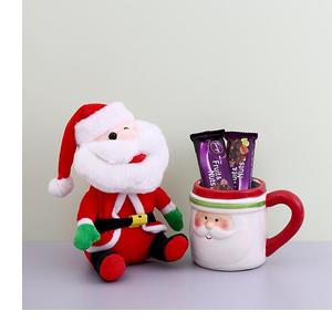 Santa Coffee Mug With Chocolate Combo
