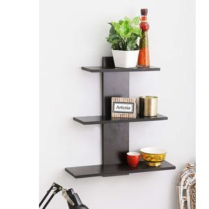 Artesia Tree Shape Wall Shelf with 3 Shelves (Brown)
