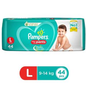Pampers New Large Size Diapers Pants (44 Count) - L  (44 Pieces)
