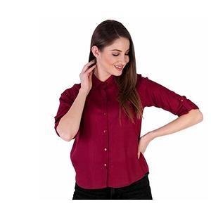 Amayra Women's Rayon Solid Shirt