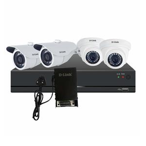 D-Link Pro HD CCTV Kit with 2MP Dome Camera (2nos) + 2MP Bullet Camera (2nos) + 8CH HD DVR & 8CH Amp SMPS
