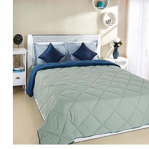 Amazon Brand - Solimo Microfibre Reversible Comforter, Double, Grey and Blue