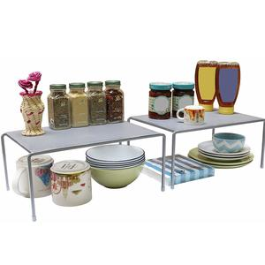 Callas Stackable Kitchen Cabinet And Counter Shelf Organizer,Silver, Ca91Ab