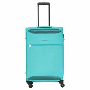Kamiliant by American Tourister Zaka Polyester 26 inch Aquamarine Softsided Check-in Luggage (KAM ZAKA SP 67 cm - Aquamarine)