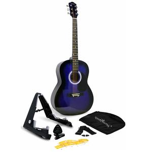 Martin Smith W-101-Bl-PK Acoustic Guitar Super Kit with Stand (Blue)