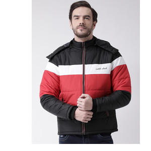 COBB Men Black Colourblocked Puffer Jacket