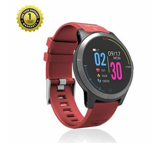 MevoFit Race-Thrust ECG-Smart-Watch for Fitness & Health PRO Sporty-Health-ECG-Smart-Watch, All Activity Tracking (Red)