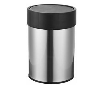 AmazonBasics Stainless Steel Dustbin, Black