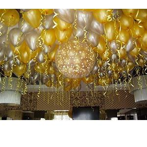Jindal Party Products HD Metallic Finish Balloons for Birthday / Anniversary Party Decoration ( Golden, Silver ) Pack of 50