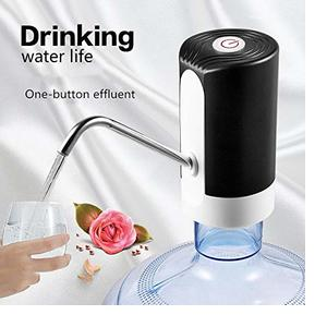 JIYANA Automatic Wireless Water Bottle Switch Rechargeable Automatic Dispenser for 20 Litre Bottle with Portable USB Charging with USB Cable