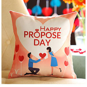 Proposing Her Printed Cushion