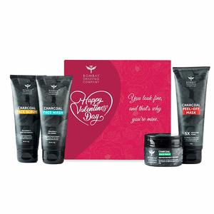Bombay Shaving Company Charcoal Facial Starter Kit, Tan and Blackhead removal Gift for Valentine's Day