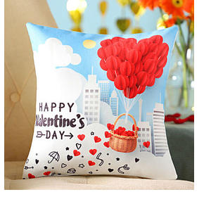 Valentine's Special Printed Cushion
