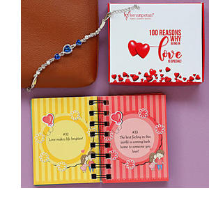 Bracelet with Love Book for Valentine's