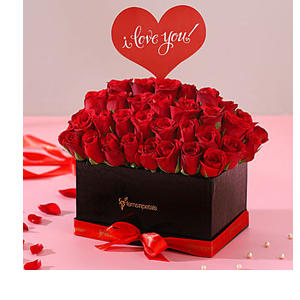 I Love You Red Roses Box