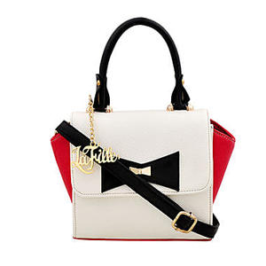 LaFille Bow Red Handbag