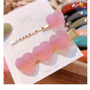 Ombre Heart Hair Clips