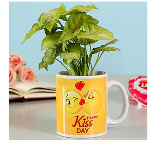 Syngonium Plant In Kiss Day Mug