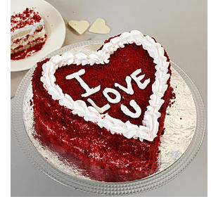 Red Velvet Love Cake Half Kg