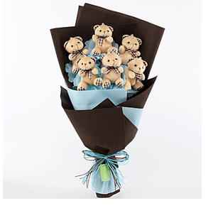 Cute Teddy Bear Bouquet