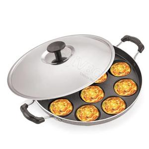 iVBOX Eco-Plus Non-Stick 12 Cavity Appam Patra, Paddu Paniyarakkal Paniarakkal with Lid  (Aluminium, Non-stick)