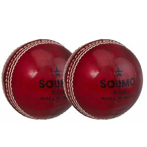 Amazon Brand - Solimo Leather Cricket Ball, Set of 2