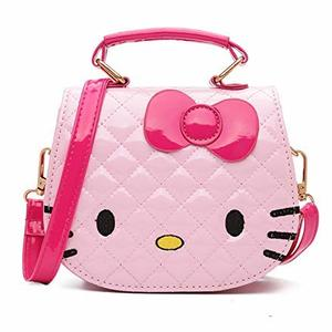 Fashion Mini Waist Bag for Little Girls Cartoon Kitty Single Shoulder Cross Body Bag for 4-12 Years Girls