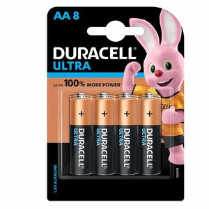 Duracell Ultra Alkaline AA Batteries (Pack of 8)