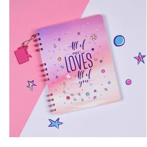 Doodle Forever Mine Wiro Soft Bound Notebook (8.5 X 6.5 inches, 80 GSM, 160 Pages), Gift for him, Gift for her, Valentine' Day Gifta