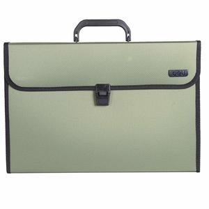 deli W38730 Expanding A4 File with Handle, Green