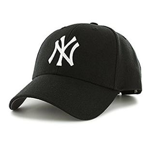 Starstep Cotton Baseball NY Logo Black Cap for Men and Women