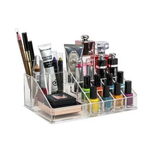PETRICE 16 Compartment Cosmetic Makeup Jewellery Lipstick Storage Organiser Box